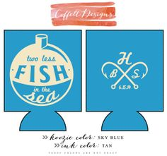 Personalized and Custom Wedding Koozie Two Less by CoffeltDesigns, $70.00