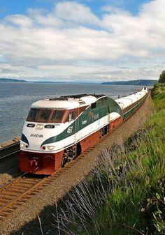 we could go down to oregon a state like washington via train and