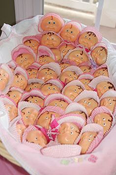I would seriously love these....creepy kinda but still they're Cabbage Patches made of chocolate!