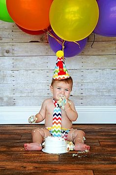 Personalized Chevron Baby Boy Cake Smash Outfit Tie by JustInTies, $44.00