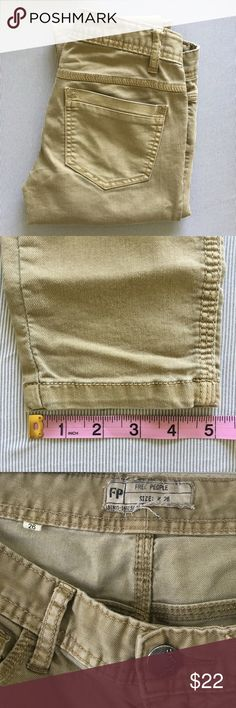 Free People Khaki Skinny Jeans In excellent condition FP jeans. Free People Jeans Skinny