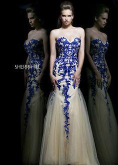 2015 Sherri Hill 1921 Blue Cocktail Dresses