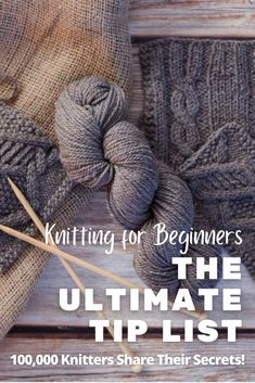 The Ultimate List of Tips (From 100k Expert Knitters!). We asked 100k talented knitters to share the most life-changing tips they learned in their knitting journey, here's what they said... #howtoknit #knittingtips #beginnerknitting Beginner Knitting Patterns, Knitting Help, Knitting Tutorials, How To Start Knitting, Crochet Stitches Patterns, Knitting For Beginners, Knitting Stitches, Knitting Projects, Stitch Patterns
