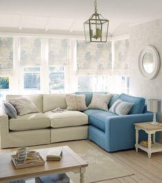 """Seaside home? NEW Laura Ashley Coastal range..."" Different sofa Colours! It works!"