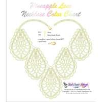 Pineapple Lace Necklace Printable Bead Graph for Beading