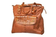 How to make a purse out of a torn or stained leather coat or jacket.