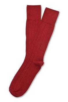 Supima Cotton Dress Rib Socks