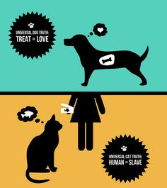 Universal Truths: Cats & Dogs by thebendystraw, via Flickr
