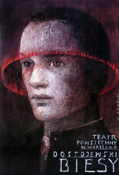 Devils, The Possessed, Dostoyevsky, Polish Theater Poster by Wiktor Sadowski