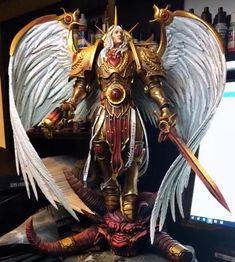 Sanguinius WIP by Warhammer 40k Blood Angels, Warhammer 40k Memes, Warhammer 40k Figures, Warhammer Art, Warhammer Models, Warhammer 40k Miniatures, Warhammer 40000, Warhammer Fantasy, Warhammer Emperor