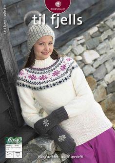 1212: Modell 1 Genser, lue og votter #strikk #fjells Fair Isle Knitting, Winter Hats, Crochet Hats, Chic, Sweaters, Blog, Fashion, Stapler, Threading