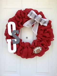 Hey, I found this really awesome Etsy listing at https://www.etsy.com/listing/193704760/ohio-state-university-burlap-wreath