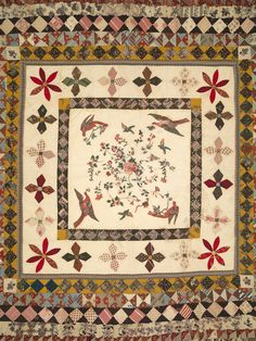The Rajah quilt, detail. Antique Quilts, Needlework, Bohemian Rug, Archive, Quilting, Gems, Textiles, Australia, Contemporary