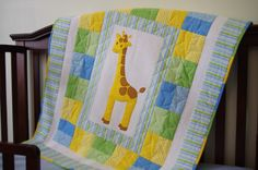 Free Giraffe Baby Quilt patter from Cynthia at Ahhh...Quilting