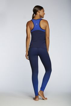 Stay cool, calm, and collected throughout your practice. Get your sweat on in the mesh back panel Leon Tank and four-way stretch Salar Legging. |Wave - Fabletics