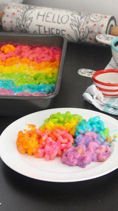 Recipe with video instructions: Who knew the rainbow actually tasted like cheese? Ingredients: 3 tablespoons unsalted butter, cup all-purpose flour, 2 cups milk, 1 teaspoon salt, Pinch. Rainbow Birthday, Unicorn Birthday Parties, Unicorn Party, 5th Birthday, Birthday Ideas, Happy Birthday, Rainbow Food, Rainbow Desserts, Rainbow Sweets