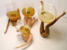 diy Barbie Wine Glasses - these are just kind of WRONG.... :O
