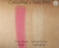 ColourPop x Hello Kitty - Blush and Highlighter | Kat Stays Polished @ColourPopCo
