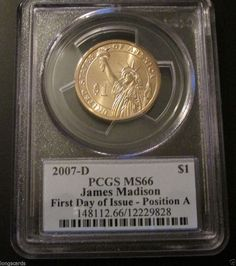 FROM THE DENVER MINT WASHINGTON  $1  PCGS MS65 2007 MISSING EDGE LETTERING