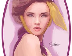"""Check out new work on my @Behance portfolio: """"Lady in pictures"""" http://be.net/gallery/34881729/Lady-in-pictures #women #artist #flower #purple #plum #yellow #fashion #pencil #huion #photoshop #veravervain #cg #concept #digitalart #digitalportrait"""