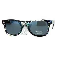 af9d7849e2f Floral Flower Sunglasses Classic Designer Fashion Wayfarer Shades Green  Multicolor -- Visit the image link