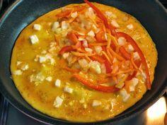 Para o pequeno-almoço ou como prato principal, experimenta esta omelete simples e light. Feita com muito pouca gordura.