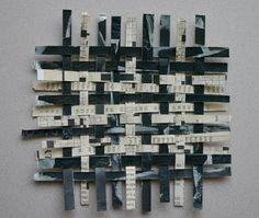 Crossword Paper Weaving- Original  Woven Paper Art- Crossword Puzzles- Black and White. $7.50, via Etsy.