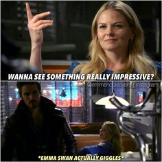 Ah.. #CaptainSwan moments never stop to amaze me. Emma giggled! And hook was acting like an ass all because of Zelena's stupid curse :( imagine how different would have been this moment if he hasn't been under the curse! Moment wasted