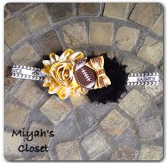 Saints Inspired Headband New Orleans Headband by MiyahsCloset