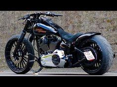 Harley-Davidson FXSB Black Custom - YouTube