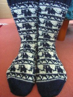 Love these blue elephant socks!