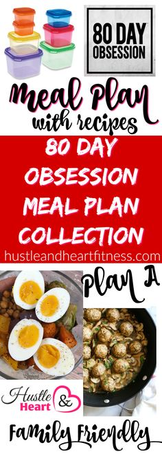 80 Day Obsession Meal Plans - my family will eat!