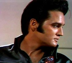 """Elvis during one of the """"Stand-up/Leather Suit"""" segmenst in his 68 Comeback Special, filmed at the NBC Studios on June 29, 1968"""