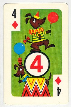 Golden Doggies Playing Card by scrubbles, via Flickr