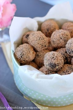 Oreo truffles coated in grated chocolate instead of fooling with melting.  GENIUS!