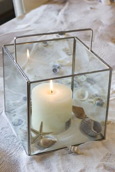 glass candle holder - need to make one of these