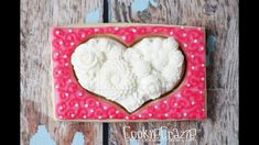 Flower Filled Heart Decorated Sugar Cookie Tutorial Video
