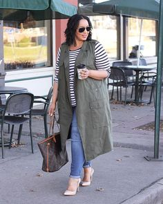 15 Trendy Plus Size Outfits With Stripes Curvy Outfits, Jean Outfits, Plus Size Outfits, Casual Outfits, Curvy Fashion, Girl Fashion, Fashion Outfits, Womens Fashion, Fashion Trends