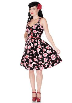 Voodoo Vixen Rose Stem Dress