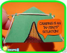 """""""Tents"""" Situtation  """"Girl Scout"""" or """"Boy Scout"""" SWAPS  Craft Kit  by Swaps4Less"""