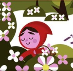 Écriture collaborative du conte Le Petit Chaperon Rouge Google Doodles, Red Riding Hood, Little Red, Paper Cutting, Minnie Mouse, Creations, Disney Characters, Drawings, Illustration