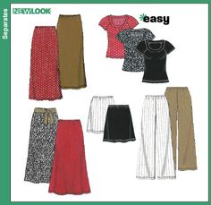 Purchase the New Look 6762 Misses Separates sewing pattern and read its pattern reviews. Find other Easy to Sew, Tops, Pants, Skirts sewing patterns.
