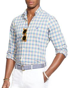 Polo Ralph Lauren Plaid Poplin Button Down Shirt - Regular Fit