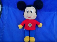 Vintage Mickey Mouse plush Knickerbocker 1976 by Blissfulcollectables on Etsy