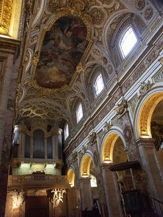 Not far from Piazza Navona in Rome is San Luigi dei Francesi or Saint Louis des Francais in French (The Church of St. Louis of the French). There are five French churches in the Eternal City and San Luigi dei Francesi is the National Church of France in Rome.