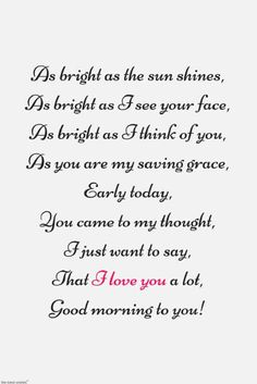Looking for romantic good morning poems for him to compliments him by a beautiful poem and surprise your boyfriend or husband with this cute love lines. Beautiful Poems For Her, Cute Love Poems, Love You Poems, Love Poem For Her, Cute Love Lines, Love Quotes For Her, Best Love Quotes, Love Yourself Quotes, Cute Poems For Him
