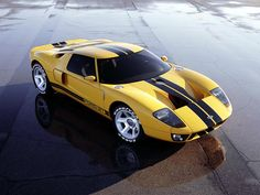Modern-day Ford GT based on the Le Mans-wining GT40 of the 1960s.