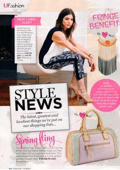 Wishbone's Arnott's Launch & the Carmen Colour Block Top & Tia Print Trouser Featured in U Magazine Colour Block, Color Blocking, Printed Trousers, Straw Bag, Product Launch, Sporty, Cosmetics, Cool Stuff