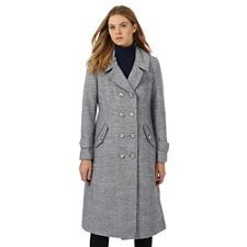 Principles by Ben de Lisi Grey military coat with wool | Debenhams
