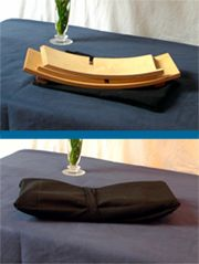 The Zen Bench meditation bench provides a comfortable stable position for all forms of sitting and meditation practice